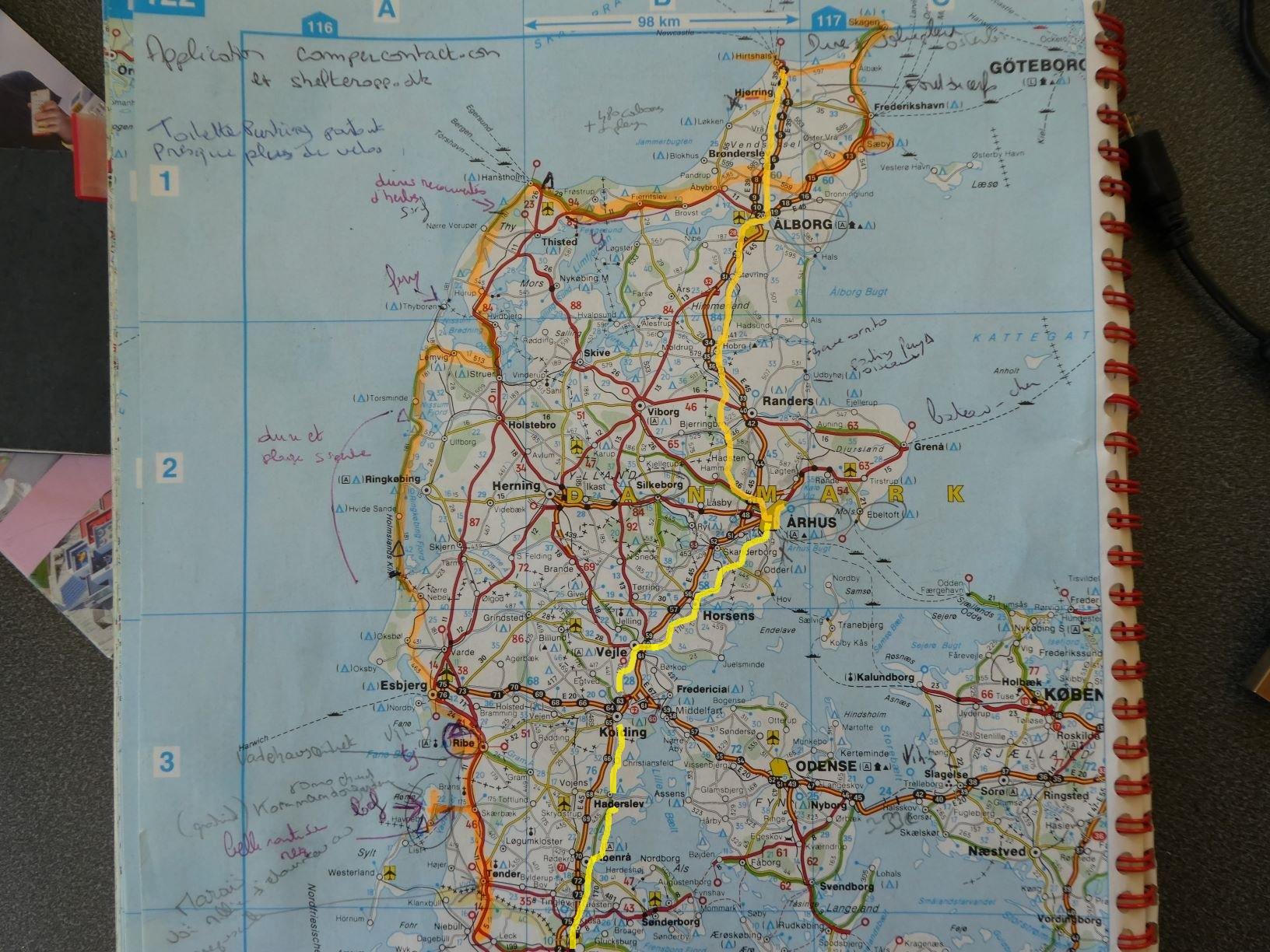 Carte danemark redimensionner