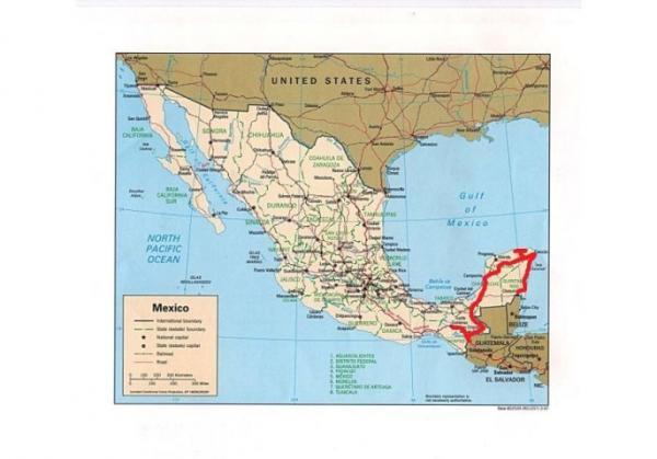 Carte mexique 1